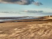 Windswept sands at Berrow
