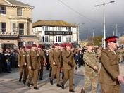 Armistice day parade Royal Plain Lowestoft