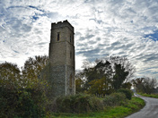 All Saints Panxworth stands bold in autumn sunshine