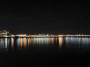 Weston seafront at night