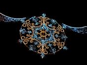 Christmas Lights at Nighttime