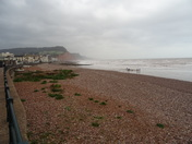 Sidmouth on a blustery day.