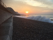 Sunrise in Sidmouth
