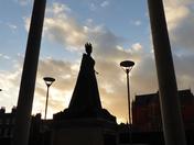 Sunset scene from Royal London Hospital
