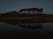 Last light alongside Otter Estuary