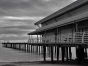 Felixstowe pier, a bit dark and moody.
