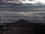 Felixstowe pier, a bit dark and moody.