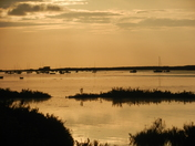The sun going down in brancaster