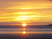 Brean beach sunset