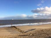 Gorleston beach shadows
