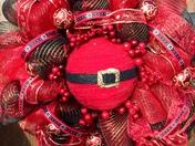An unusual take on a Christmas wreath