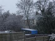 Snowing in Gants hill Ilford