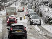 Traffic in Saffron Walden on Sunday