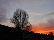 Bright Clear beautiful sunset