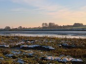 Snow On The Saltings Under A Clear blue Sky