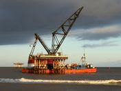 Massive Floating Crane at Sizewell