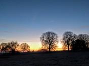 Freezing sunrise