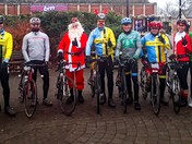 Santa & Rudolph rides with the Weston Wheelers
