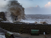 Storm Eleanor closes sea front and damages property