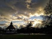 Moody sky over Chapelfield Gardens