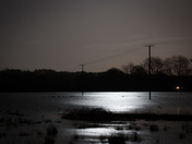 Taverham and Drayton floods by night