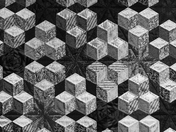 BLACK/WHITE. Pattern On Quilt