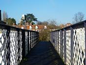 The footbridge at Woodbridge station