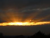 Sun beams in the Sky