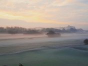 A frosty foggy morning in Weston-super-Mare