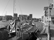 Black and White Ipswich Waterfront (photo Comp)