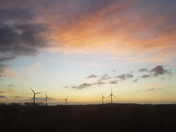 Wind turbines on the airfield at Holton, Suffolk