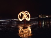 Fire Spinning by Weston's Grand Pier