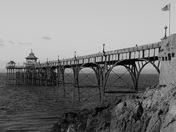 Clevedon Pier Black & White