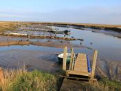 Morston Quay at low tide.
