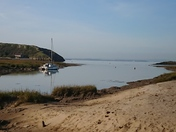 River estuary from Uphill beach at high tide