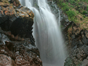 Waterfall on Clovelly Bay, North Devon
