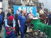 NHS demonstration