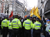 Demonstrations near Indian High Commission office London