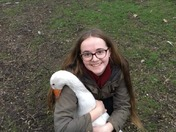 Katie and her geese