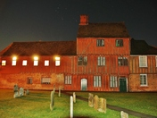 Hadleigh Guildhall with Orions Belt above 31/01/2018