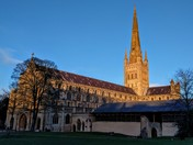 Norwich Cathedral in afternoon sun