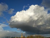 Cloud over Norwich Cathedral