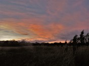Sun set at Mautby