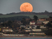 supermoon over Exmouth