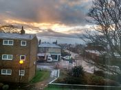 Sunrise.. snowing..good morning