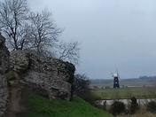 Burgh Castle looking over the river Waveney