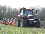 Case 240 tractor and plough