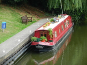 A canal boat at denver sluice