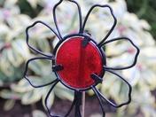 Something Red: Garden Sculpture