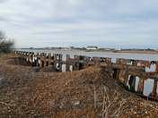 Sea defense at Bawdsey could do with a little bit of welding ? (Imperfect Comp)